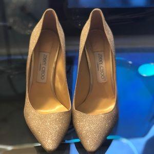 Jimmy Choo Dusty Glitter Heel